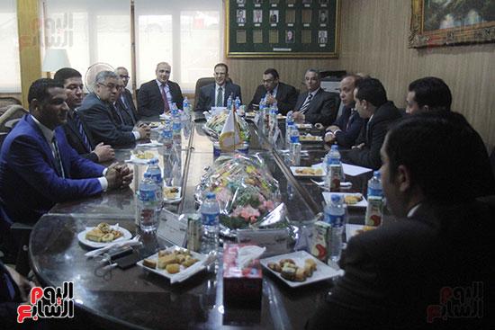 اجتماع رؤساء أندية فروع مجلس الدولة لمناقشة رؤساء الهيئات القضائية (1)