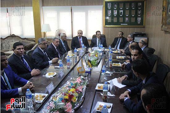 اجتماع رؤساء أندية فروع مجلس الدولة لمناقشة رؤساء الهيئات القضائية (14)