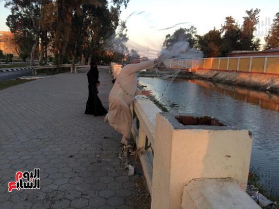 خالد  صياد  هاو التقط  كابوريا بحجم  كبير