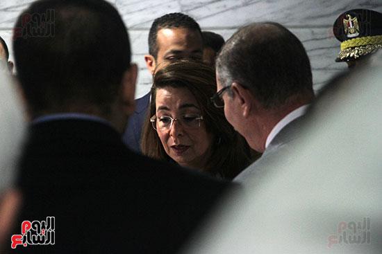 وزيرة التضامن تزور مصابى تفجيرات الكنائس (1)