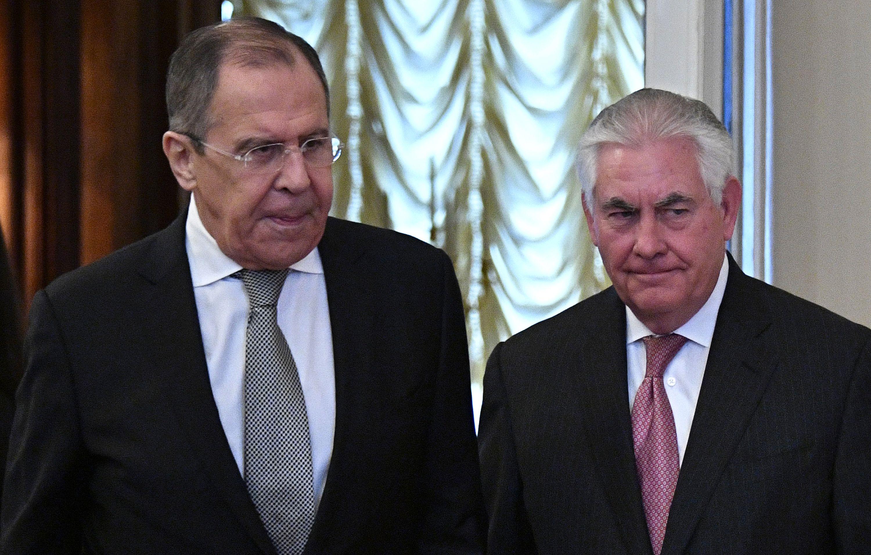 ريكس تيلرسون وسيرجى لافروف فى موسكو