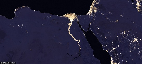 نهر النيل من الفضاء