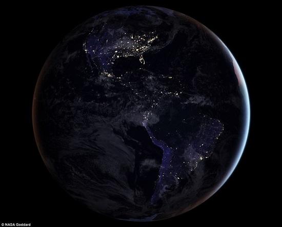 الارض ليلا