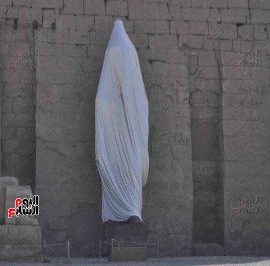 فريق ترميم أثرى مصرى أعاد تمثال رمسيس الثانى للحياة من جديد