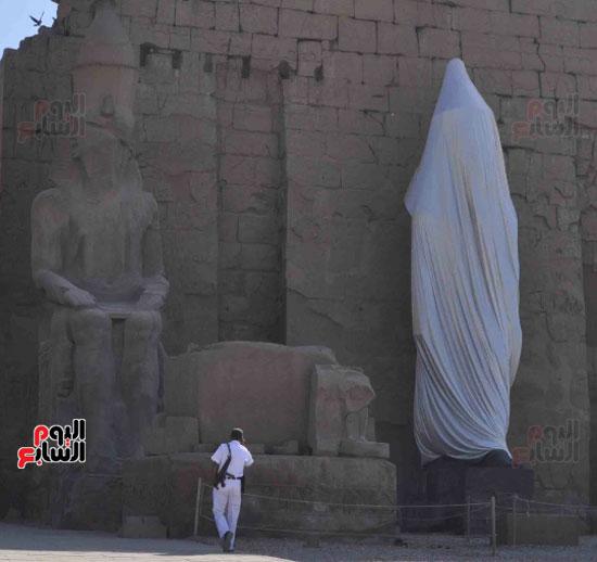 تمثال رمسيس الثانى كان محطما لأكثر من 80 قطعة