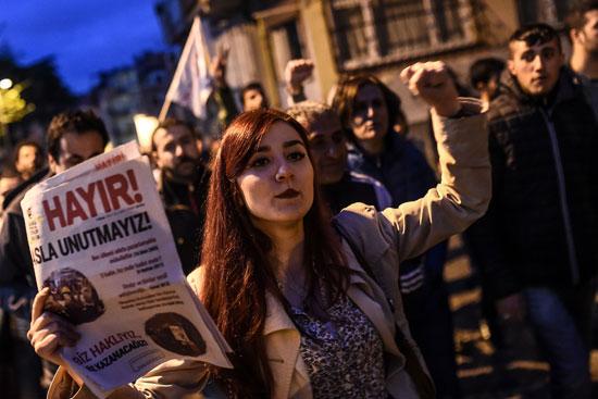 جانب من الاحتجاجات فى تركيا