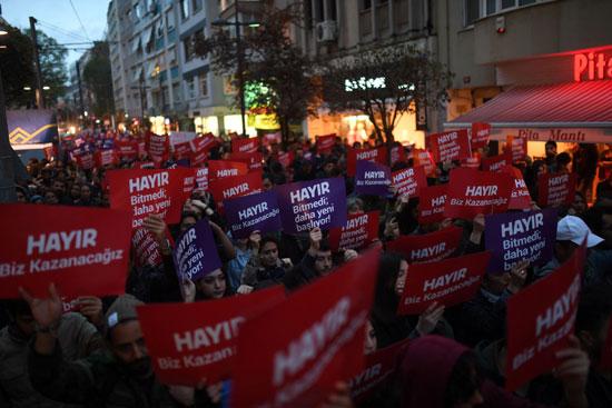 احتجاجات واسعة ضد نتائج الاستفتاء فى تركيا