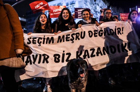احتجاجات ضد أردوغان فى تركيا