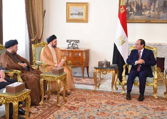 السيسى ورئيس اتحاد التحالف العراقى (1)