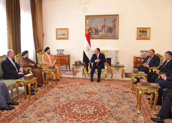 السيسى ورئيس اتحاد التحالف العراقى (2)