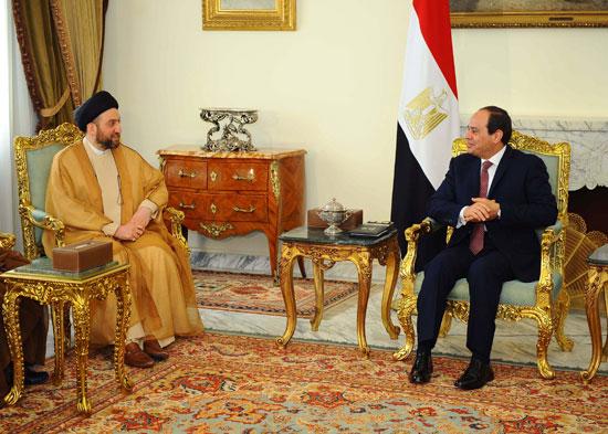 السيسى ورئيس اتحاد التحالف العراقى (3)