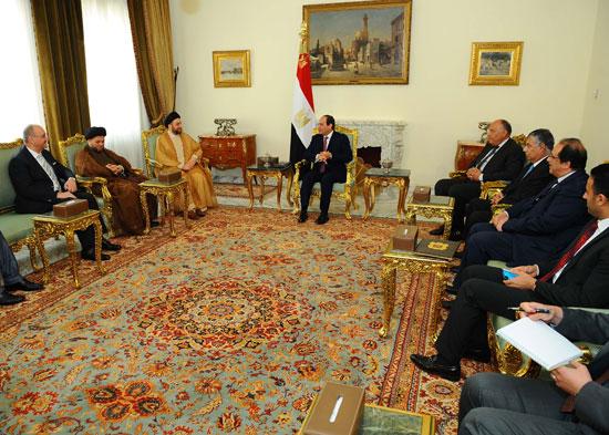 السيسى ورئيس اتحاد التحالف العراقى (4)