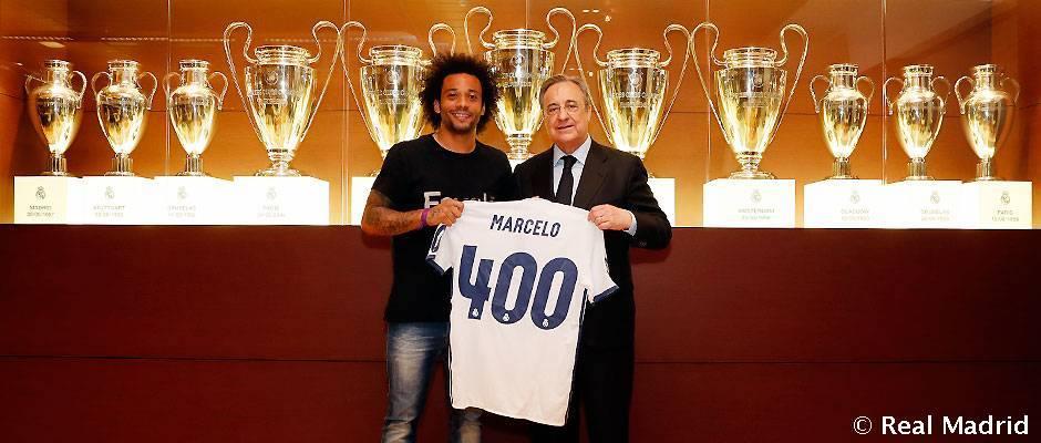 ريال مدريد يكرم مارسيلو