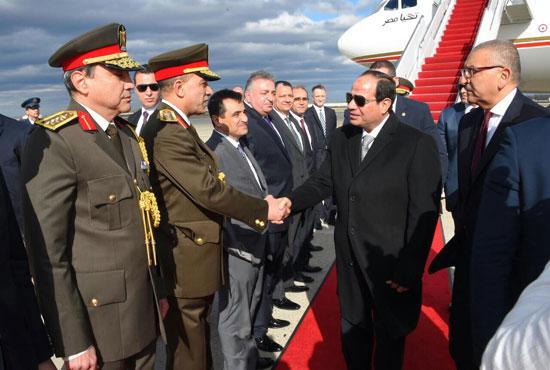 الرئيس السيسي يصل قاعدة أندروز الأمريكية