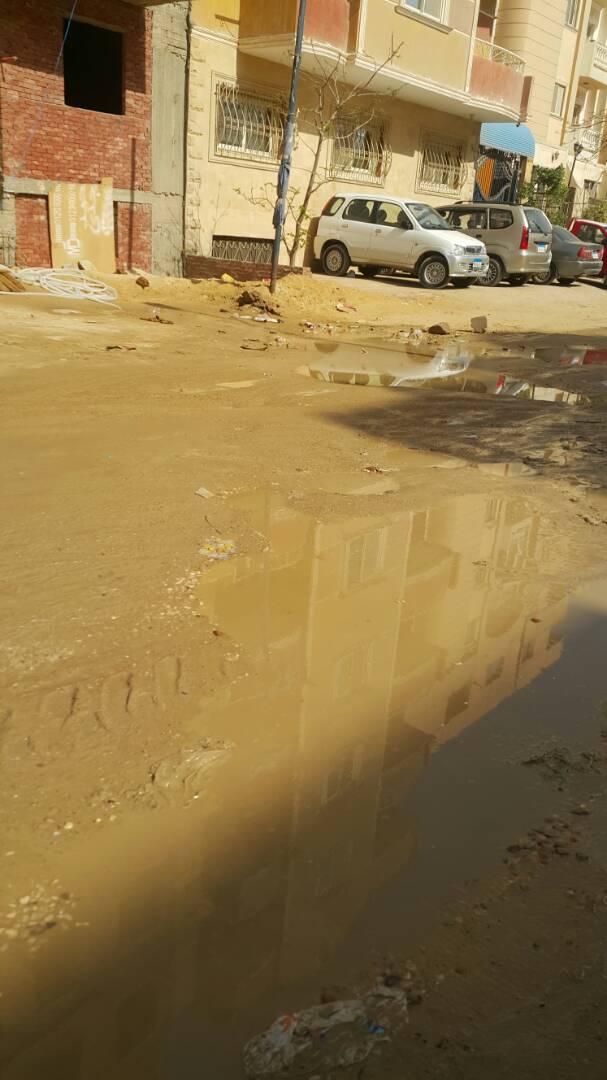 صورة توضح طفح مياه المجارى