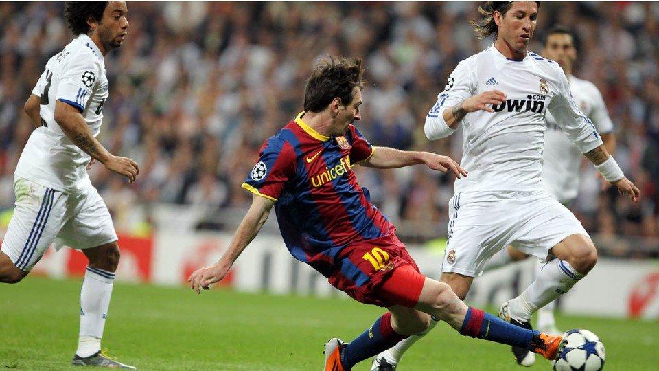 ميسي في مباراة سابقة أمام ريال مدريد