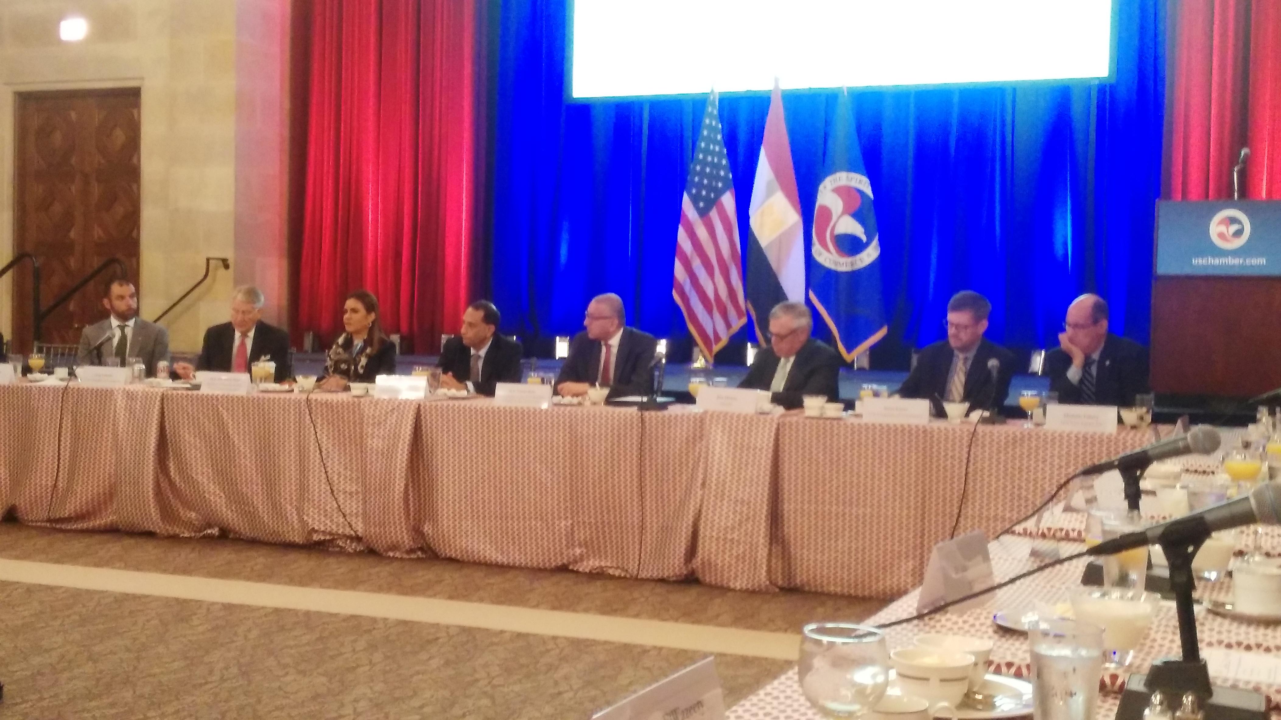 جانب من لقاء وزيرة الاستثمار والشركات الأمريكية