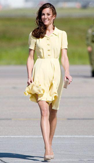 فستان أصفر مميز