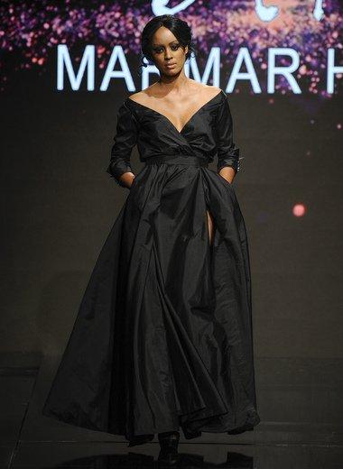 فستان أسود من تصميم مرمر حليم 2017