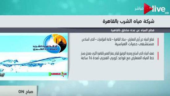 مناطق انقطاع المياه فى القاهرة  (1)