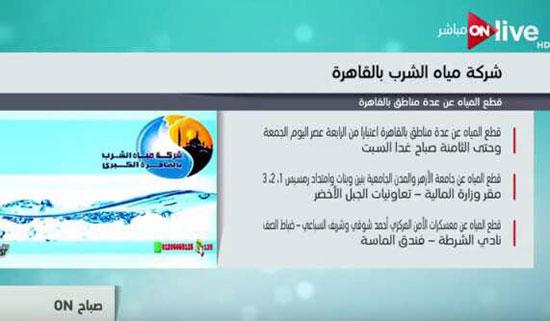 مناطق انقطاع المياه فى القاهرة  (2)