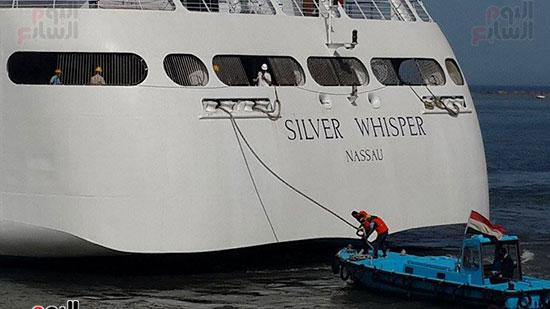 جانب من وصول السفينة