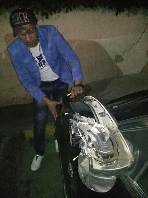 أحمد شيبة يتعرض لحادث سير