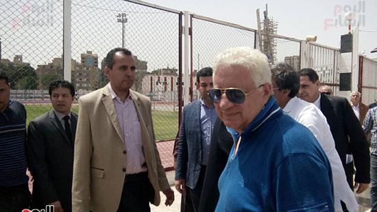 مرتضى منصور يستقبل وزير الأوقاف