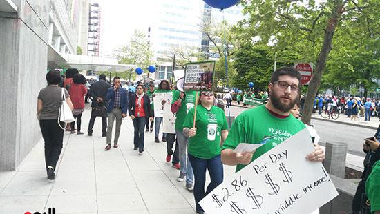 متظاهرون ضد السياسات المالية للبنك الدولى