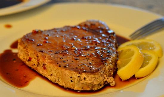 ستيك اللحم بصوص الصويا