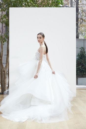 الفستان المنفوش من تصميمات المجموعة