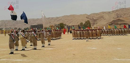 العرض العسكرى للقوات بحفل التخرج
