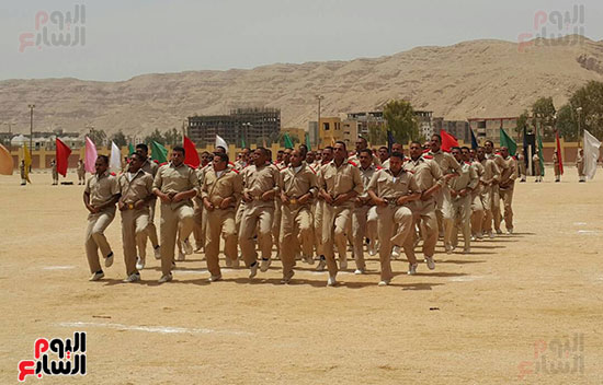 جانب من استعراض القوات فى حفل التخرج