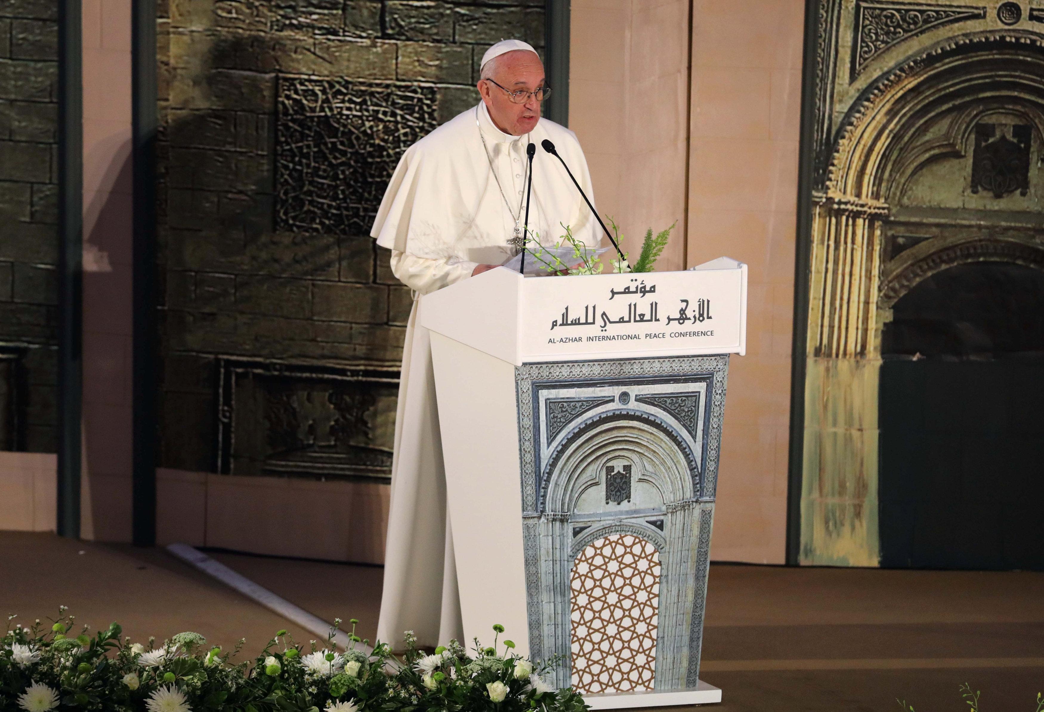 كلمة البابا فى مؤتمر السلام