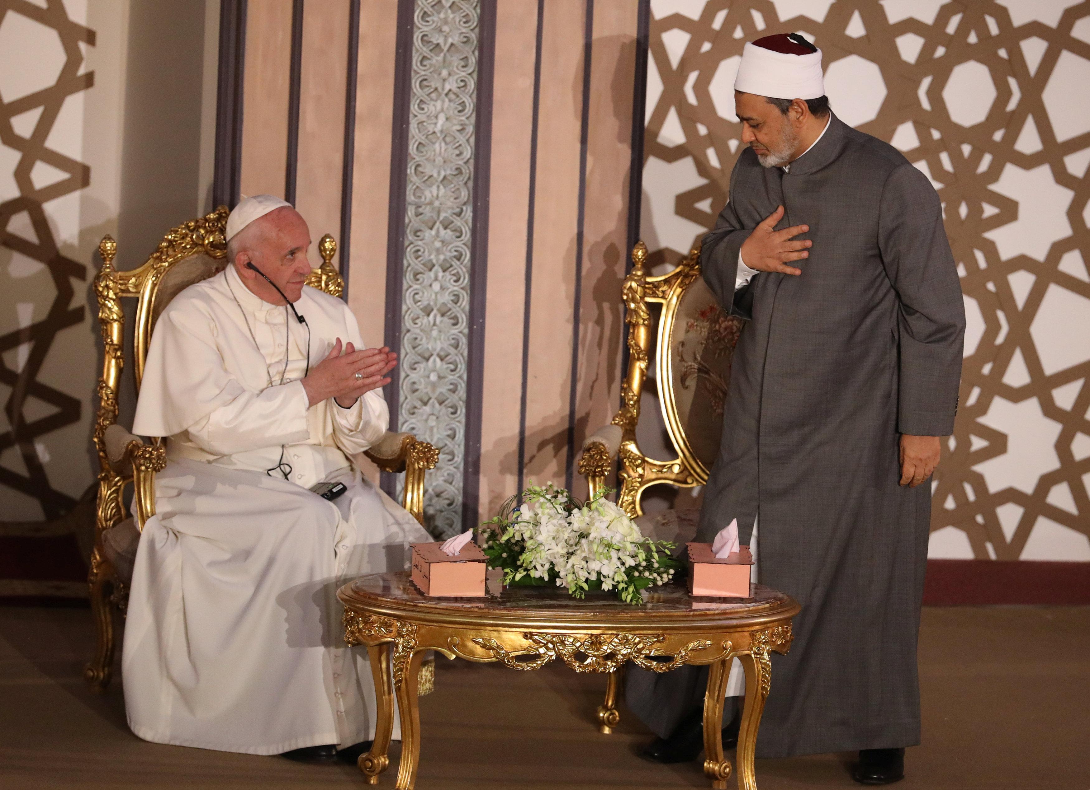 شيخ الأزهر الشريف والبابا