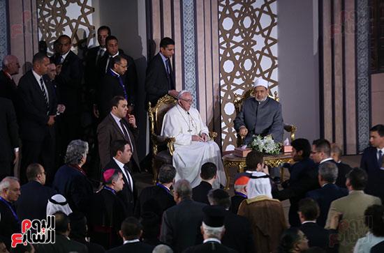 مؤتمر السلام العالمى البابا الفاتيكان احمد الطيب (16)