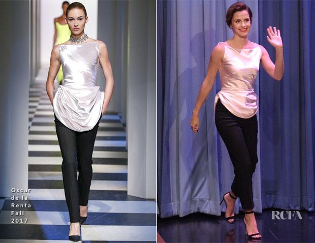 مقارنة إيما باحدى عارضات الأزياء
