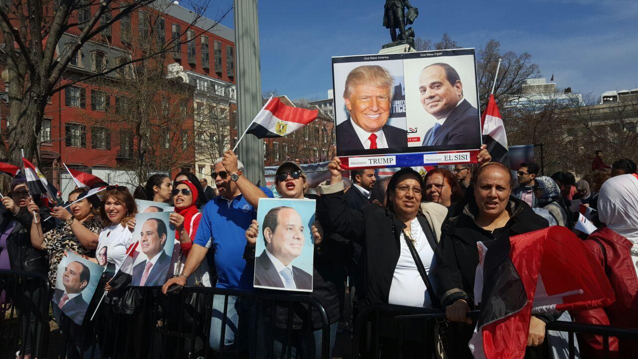 صور الرئيس السيسي ونظيره الأمريكي