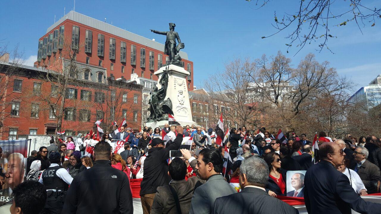 هتافات المصريين أمام البيت الأبيض