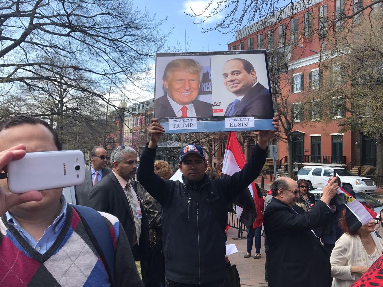 صور الرئيس السيسي ونظيره الأمريكي ترامب