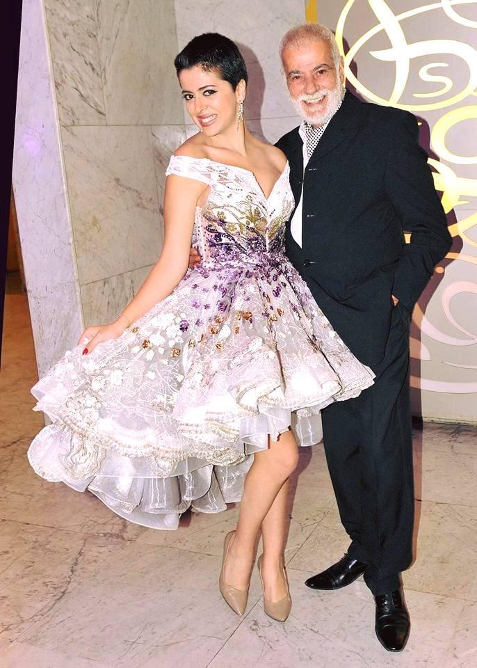 الفنانة مروة الاطرش مع والدها المخرج ممدوح  الاطرش
