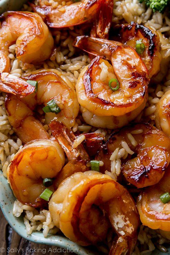 إضافة الرز بالجمبرى