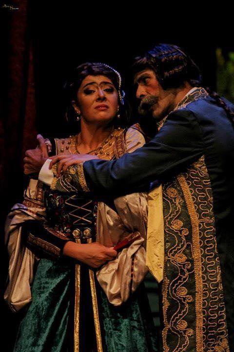 مروة الاطرش في احد اعمالها المسرحية