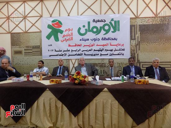 اللواء خالد فودة محافظ جنوب سيناء خلال الاحتفالية