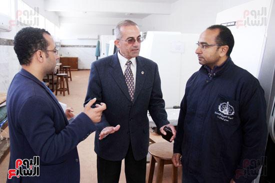 رئيس مجلس ادارة مصنع الطائرات برفقة محرر اليوم السابع