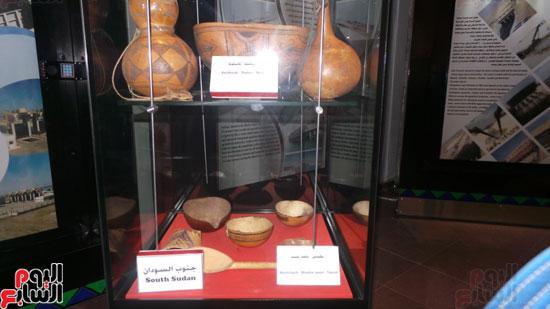 بعض المقتنيات الإفريقية بالمتحف