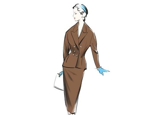 أزياء العمل في الخمسينيات