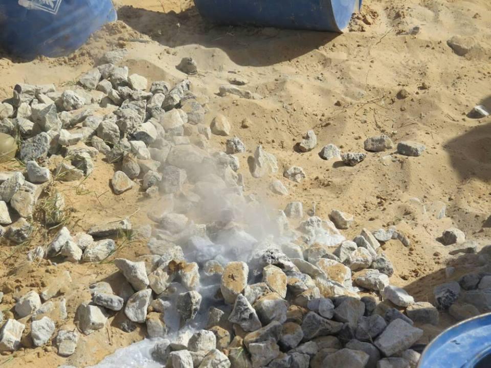 اكتشاف وتدمير مواد متفجرة فى رفح (3)