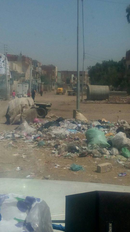 جانب من القمامة بالقرية