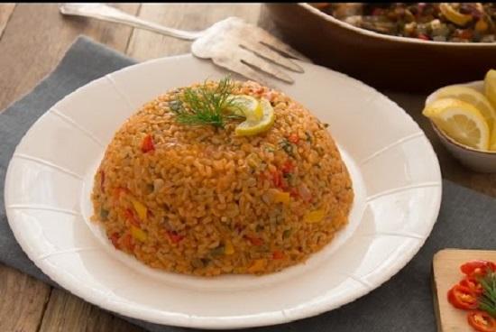 طريقة عمل الأرز الصيادية4